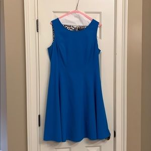 Turquoise Tahari fit and flare dress